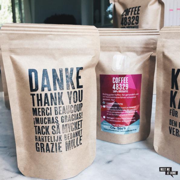 Coffee48329 Gastgeschenke | Danke