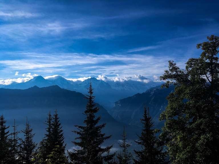 view to the Bernese Alps, Switzerland