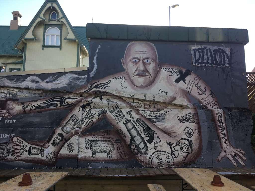 Grafitti in Dillon Bar, Reykjavik