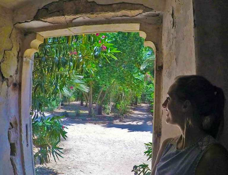Me looking out of a dorrway of one of the ruins on Lokrum Island