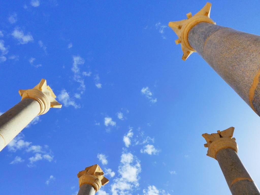 Blue Chapel colums at Petra Optimised