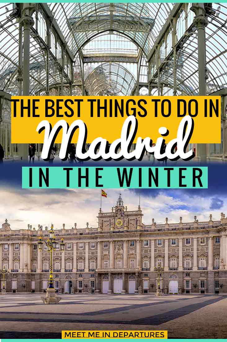 Things to do in Madrid in winter. Loads of ideas for a perfect winter mini-break to the Spanish capital. The best museums, shopping, food and drink, concert venues and nearby places of interest. Perfect for a long weekend. #Spain #CityBreak #EuropeInWinter #Madrid