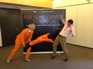 I was invited to MPI EMEC in Montreaux, where I through a lot of orange paint.