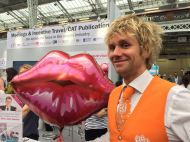 Stealing kisses at The Meetings Show UK 2016