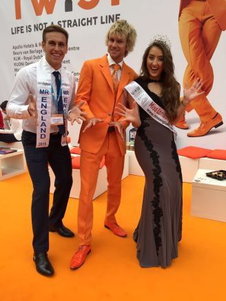 Mr Holland meets Mr & Miss England at The Meetings Show UK 2016