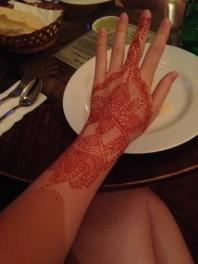 Henna show-off at Lagnaa barefoot dining
