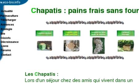 Chapatis sur Eco-bio.info