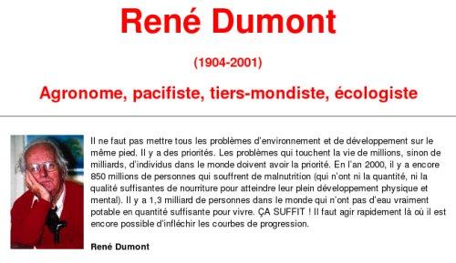 Site de la fondation René Dumont