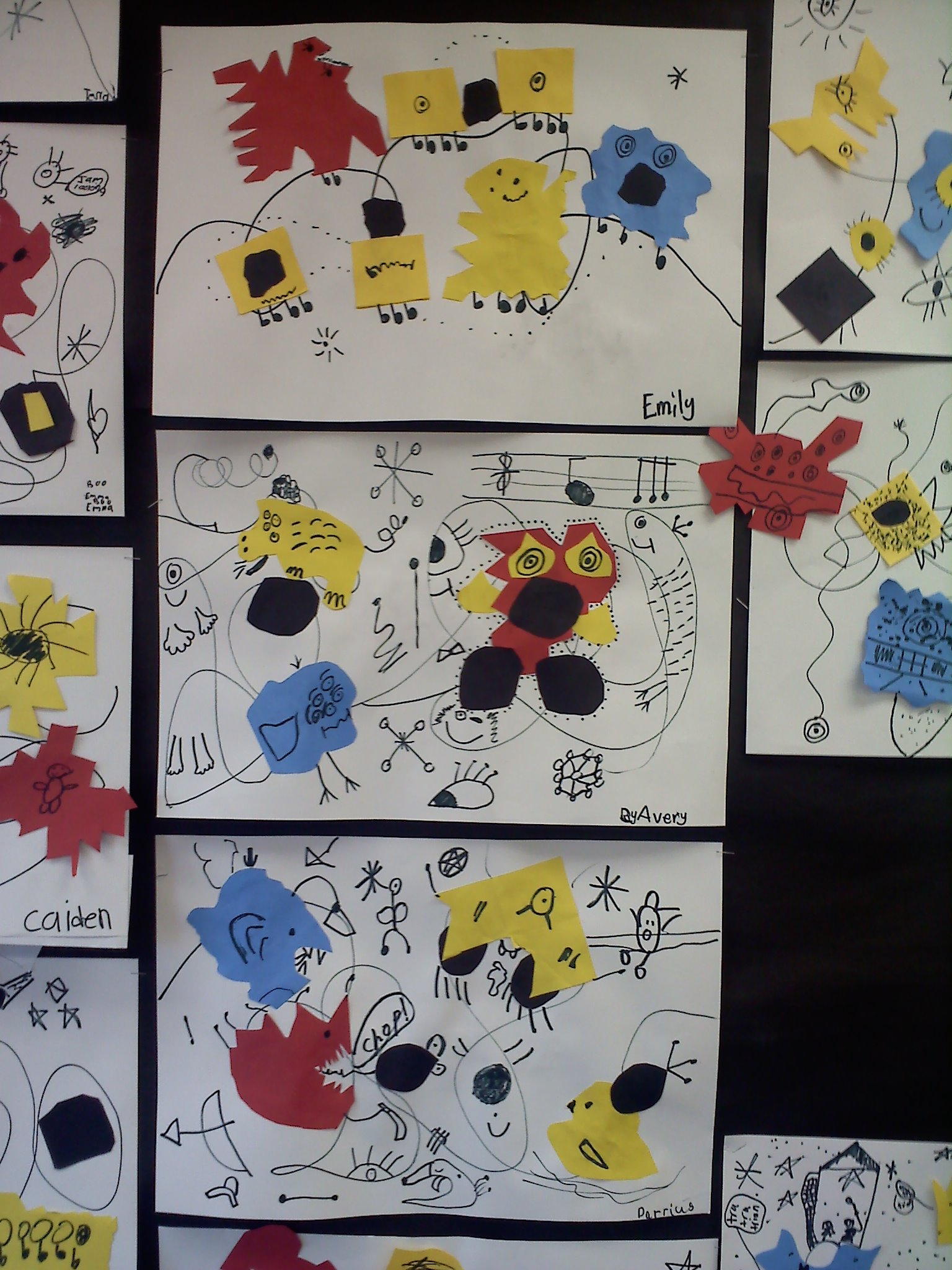 Meet The Masters Joan Miro Line Art Activity Emphasis