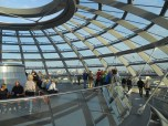 Inside the dome of the Reichstag Building