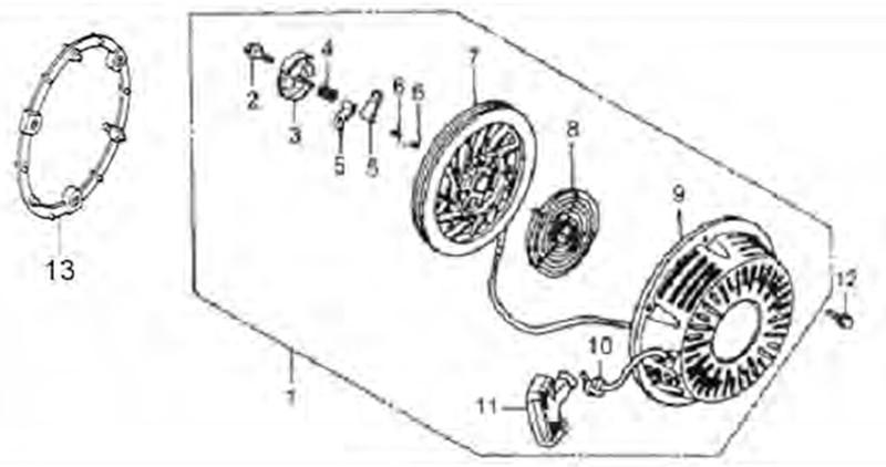 JF200 JF168 Parts Diagram