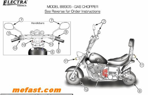 Harley Mini Chopper 49cc Scooter Wiring Diagram, Harley
