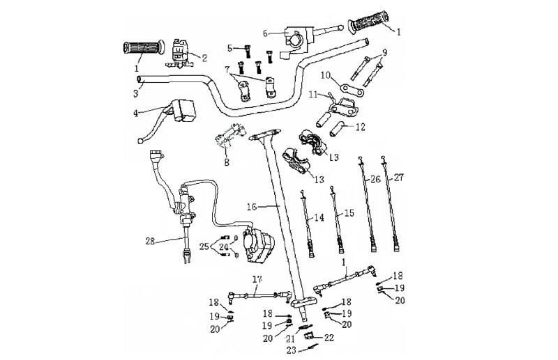 200cc Parts ATV GA013-5 Steering
