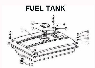 Fuel Tank Kenowa 4500 Generator