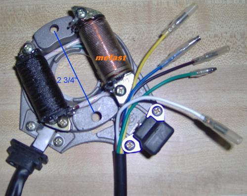 small resolution of t2 magneto taotao t2 110cc stator 5 wire 5 wire stator wiring diagram 110cc stator wiring 4