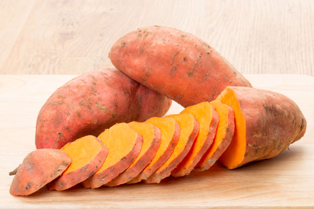 And the sweet potato. This delicious food that can go sweet or savory is super because of its abundance of manganese which helps to reduce stress. They are also a prime source of vitamin A which keeps your eyes and organs healthy and strong.