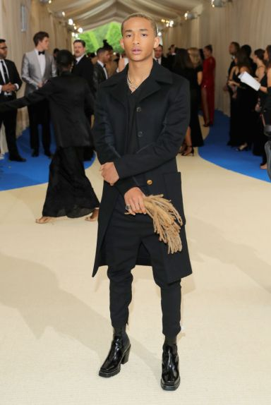 """NEW YORK, NY - MAY 01: Jaden Smith attends the """"Rei Kawakubo/Comme des Garcons: Art Of The In-Between"""" Costume Institute Gala at Metropolitan Museum of Art on May 1, 2017 in New York City. (Photo by Neilson Barnard/Getty Images)"""