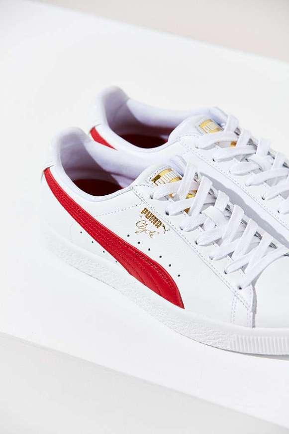 Puma Clyde Core Foil Sneaker (Red/Blue) $75.00
