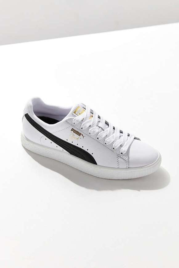 Puma Clyde Core Foil Leather Sneaker: $75