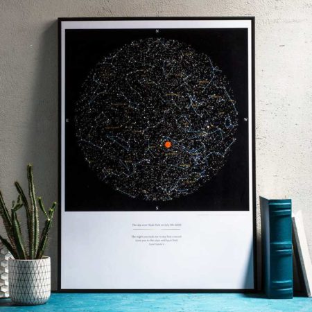 Greater Skies Personalized Sky Map Print $95.95