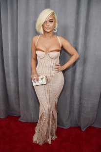 Bebe Rexha wearing La Perla. Photo by Kevin Mazur/Getty Images
