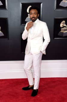 Donald Glover at the GRAMMYS. Photo by Jamie McCarthy/Getty Images