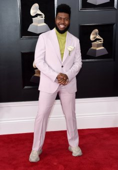 Khalid at the GRAMMYS. Photo by Jamie McCarthy/Getty Images