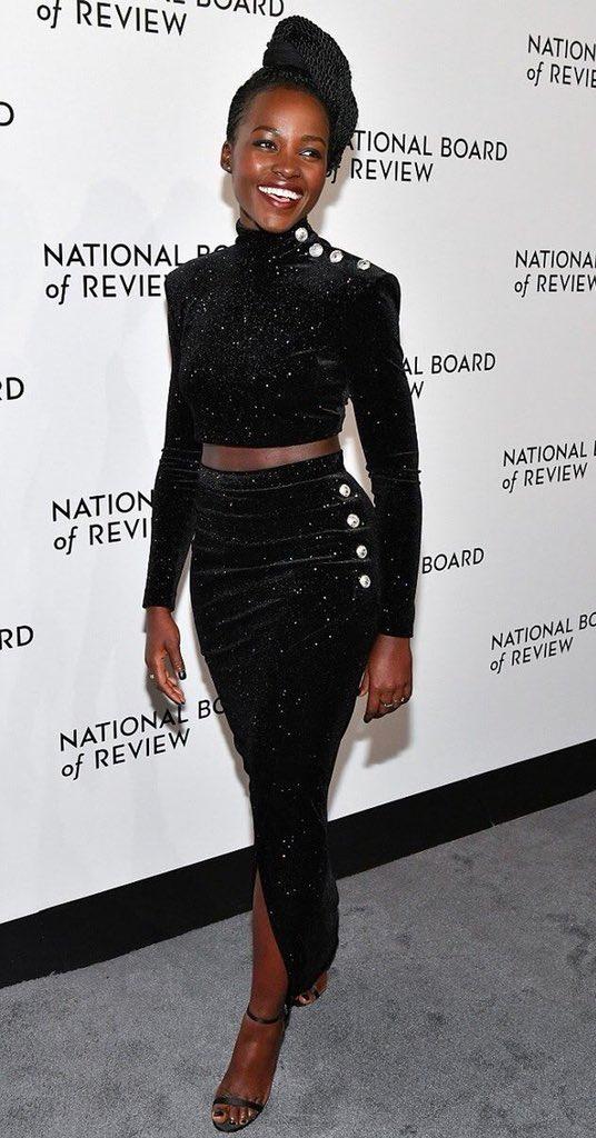 Lupita Nyong'o at The National Board Of Review Annual Awards Gala via Instagram @lupitanyongo