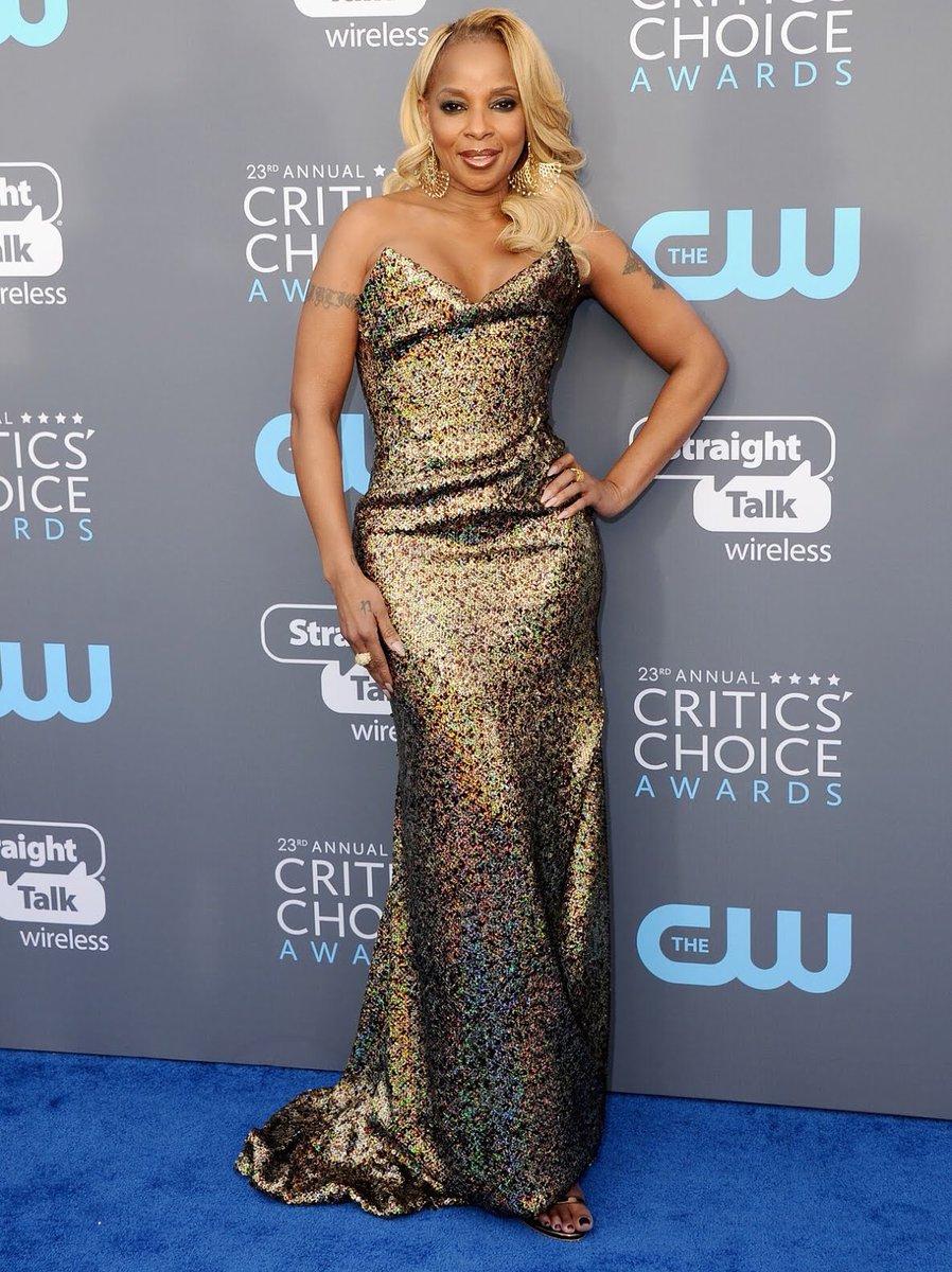 Mary J. Blige at the 2018 Critics Choice Awards