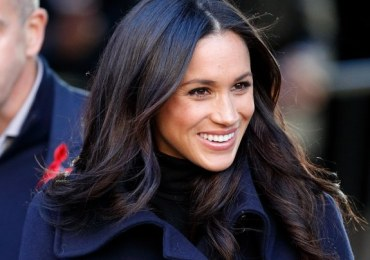Meghan Markle at her first official engagement with Prince Harry.