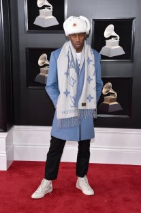 Tyler the Creator wearing Louis Vuitton. Photo by John Shearer/Getty Images