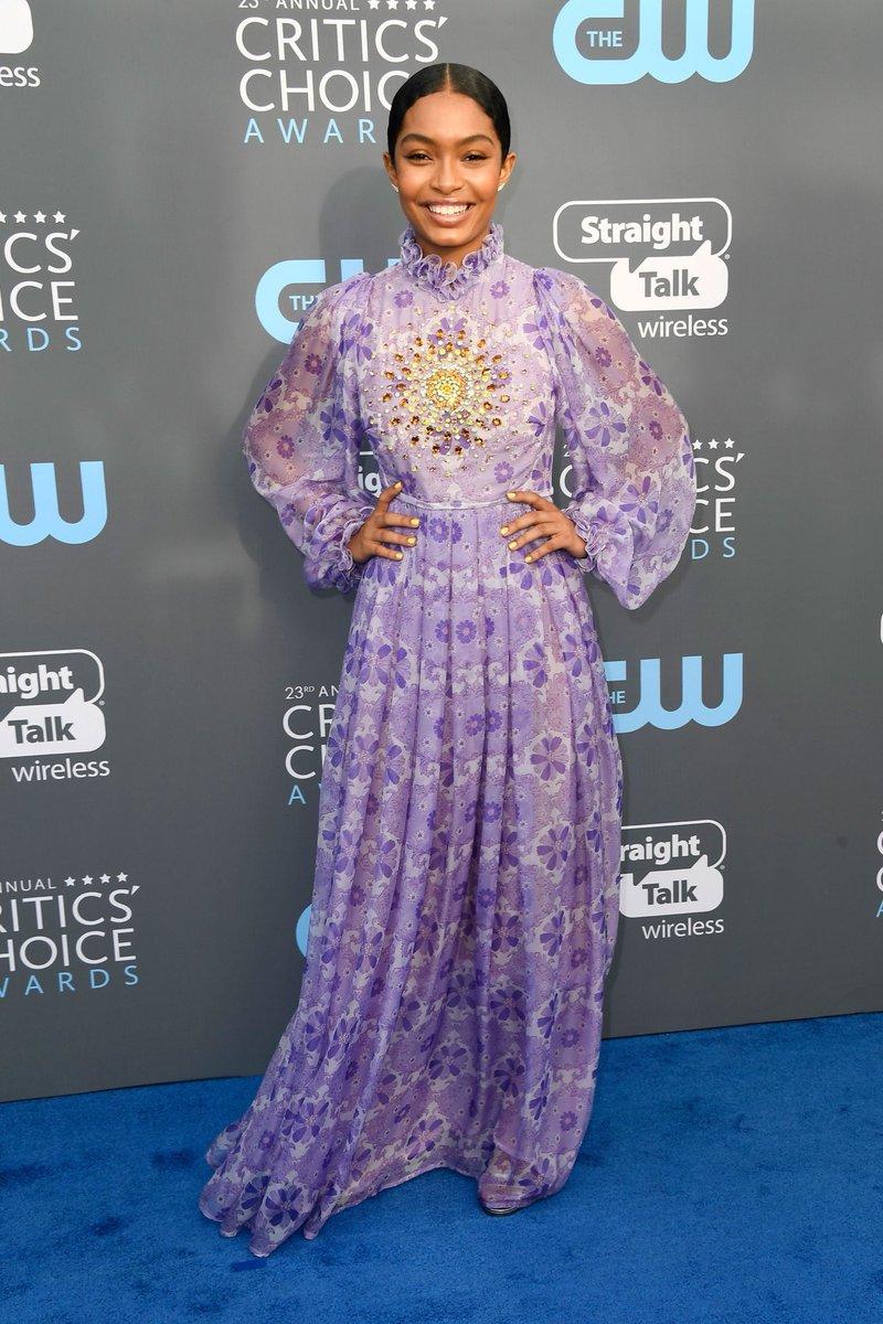 Yara Shahidi at the 2018 Critics Choice Awards