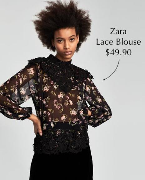 Zara Lace Blouse $49.90