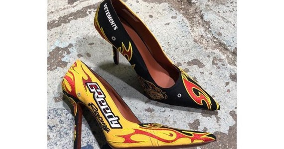 "Vetements' New ""FW19 Racing Shoes"" Stiletto Heels are FIRE"