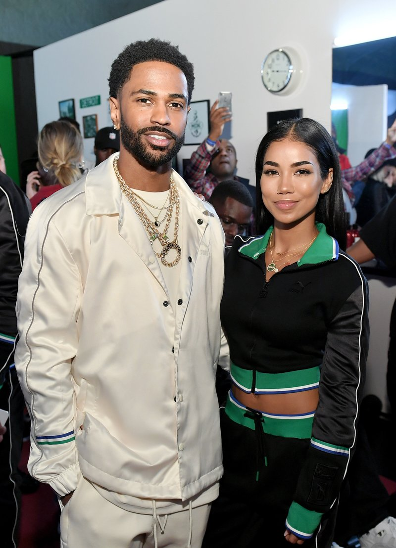 Big Sean and Jhene Aiko attend PUMA x Big Sean Collection Launch. Photo by Neilson Barnard/Getty Images for PUMA