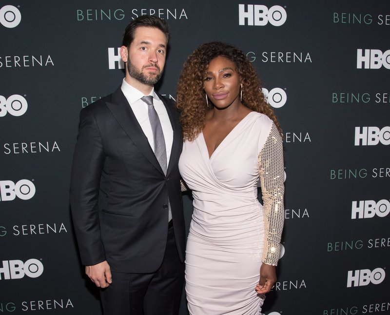 """Alexis Ohanian and Serena Williams attended the """"Being Serena"""" Premiere in NYC. Photo by Mike Pont/WireImage"""