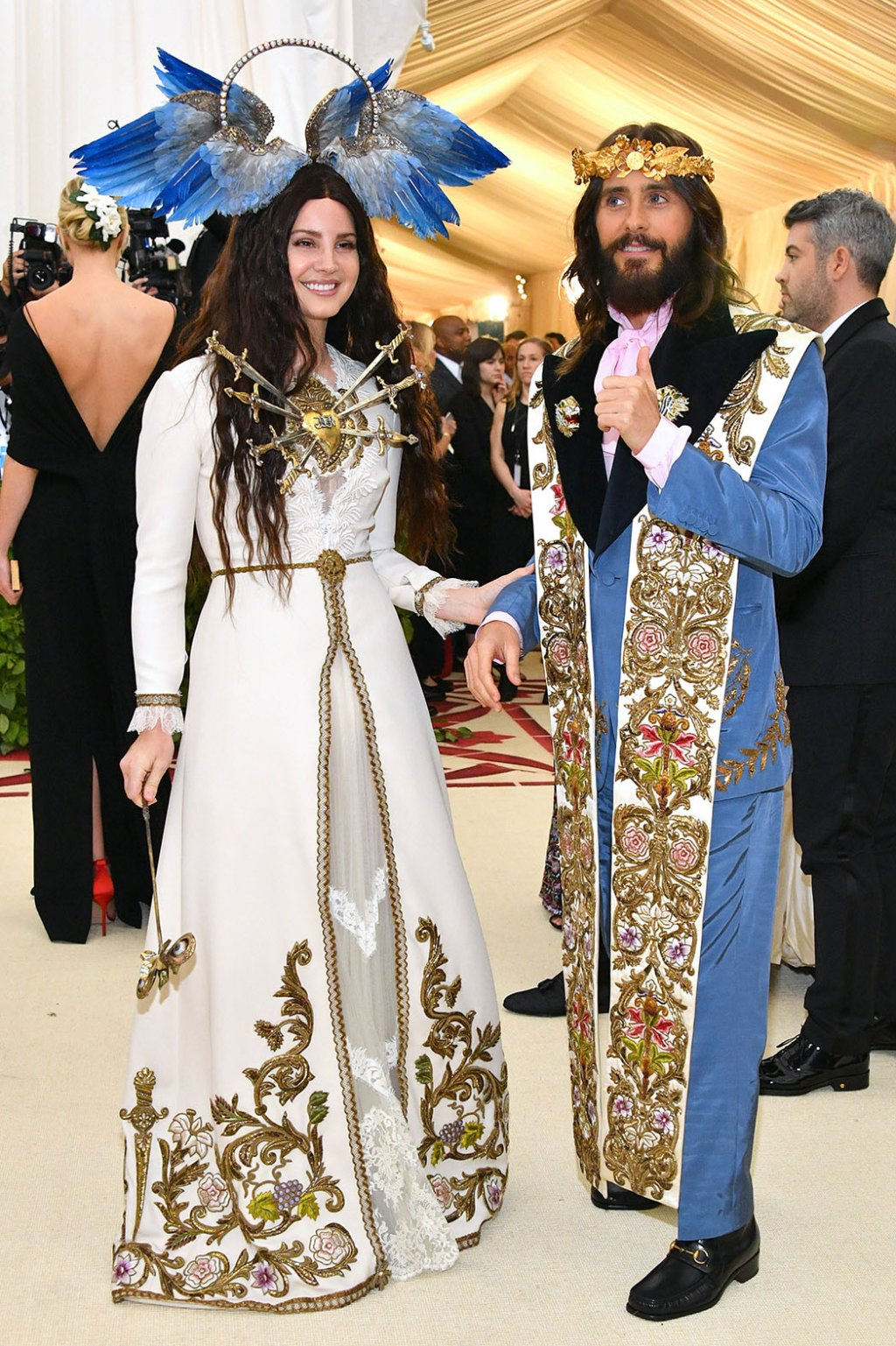 Lana Del Rey and Jared Leto in Gucci. Picture by Dia Dipasupil/WireImage