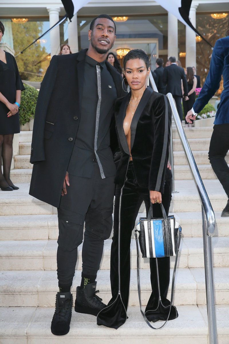 Iman Shumpert and Teyana Taylor arrive at the amfAR Gala Cannes 2018. Photo by Gisela Schober/Getty Images