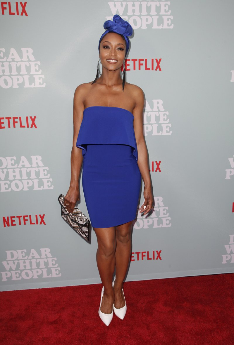 Yaya DaCosta attended the screening of 'Dear White People' season 2 in Hollywood, California. Photo by Tibrina Hobson/Getty Images