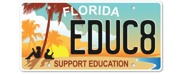 Support Education License Plate