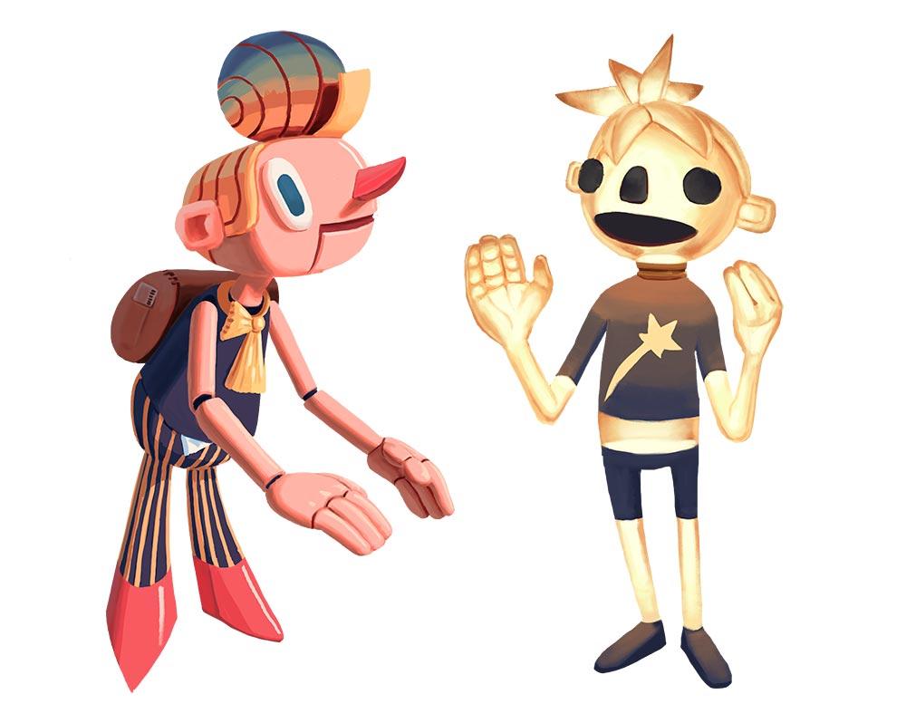 design personnage pour un storyboard