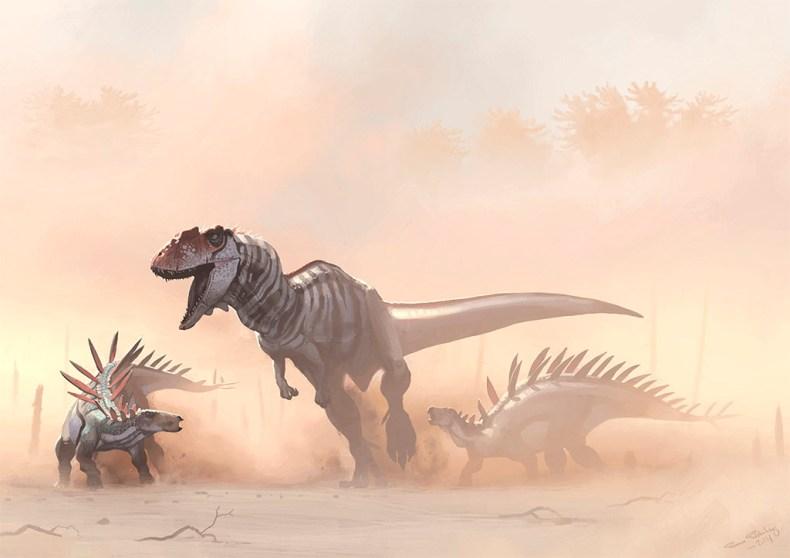 illustration dinosaure carnivore