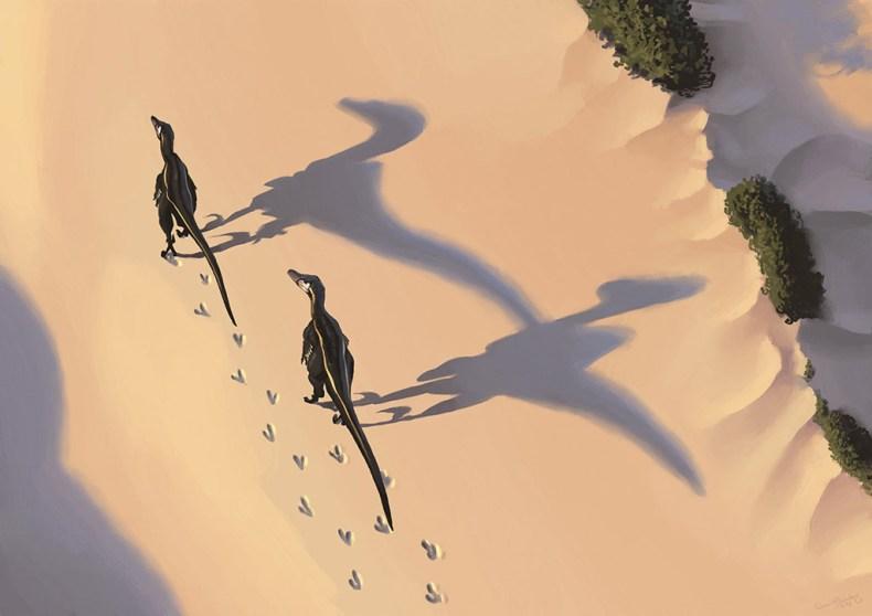velociraptor simon stalenhag dinosaure