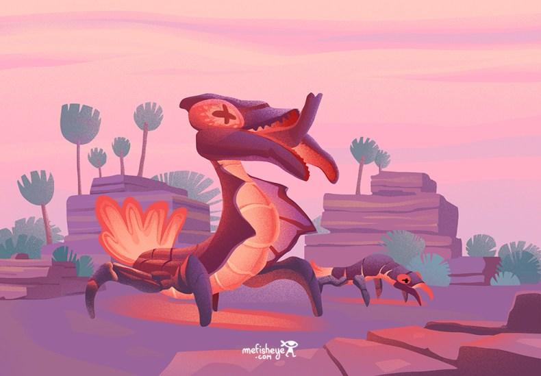 illustration d'insectes imaginaires issus de mon projet de jeu de société