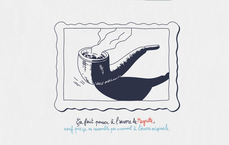 hommage pipe magritte style de dessin