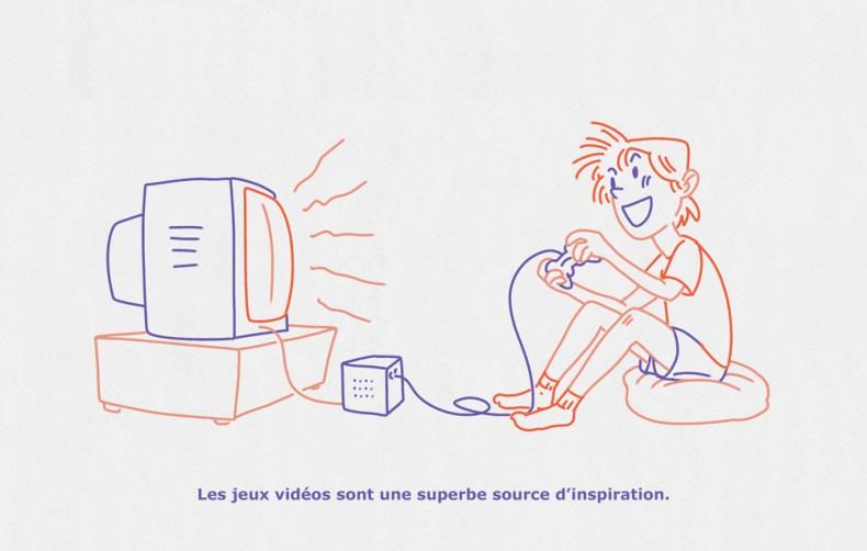 futur dessinateur nostalgique de ses parties de jeux vidéos