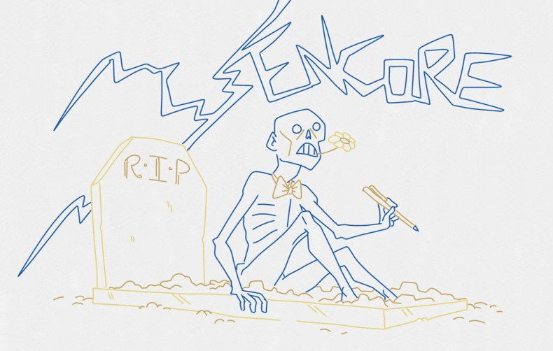 illustrateur mort vivant revenu d'entre les tombes. dessin horreur