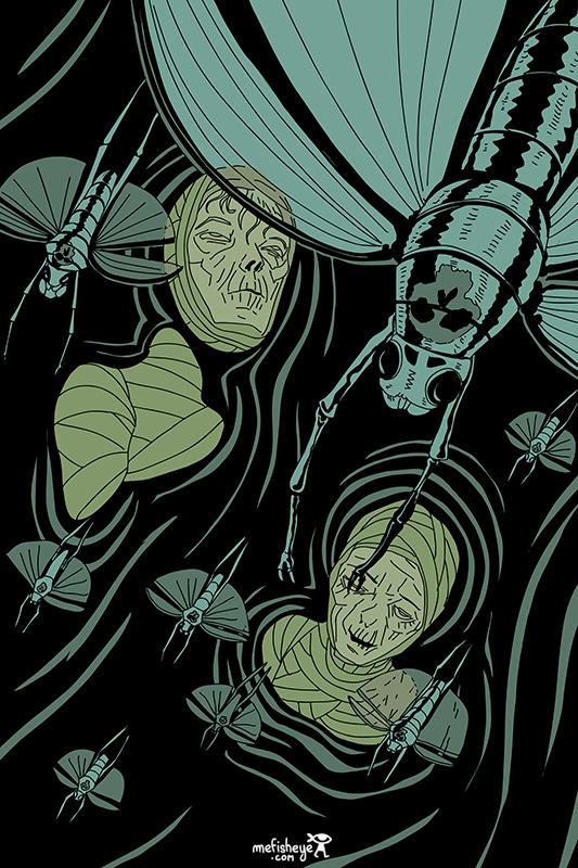 illustration momie egypte king of dust par florian garbay mefisheye