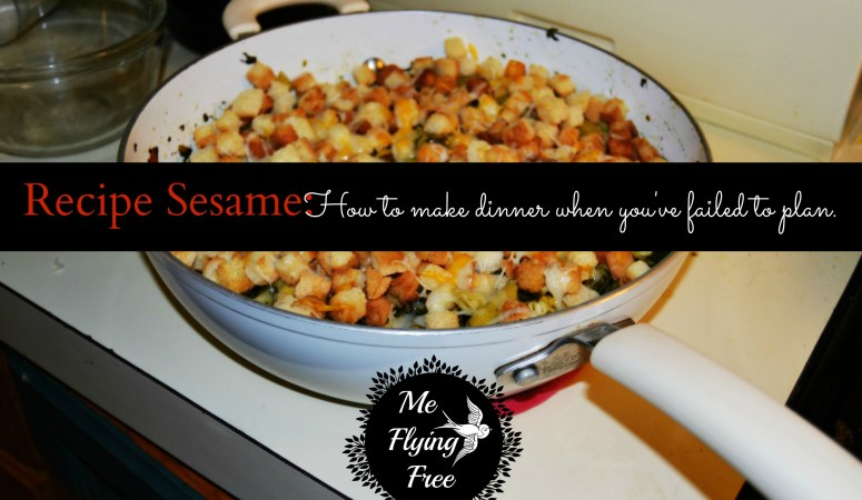 Recipe Sesame – How to make dinner when you've failed to plan.