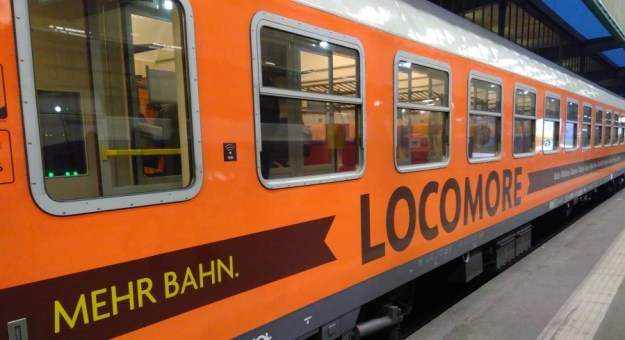 der Locomore-Zug wartet auf mich